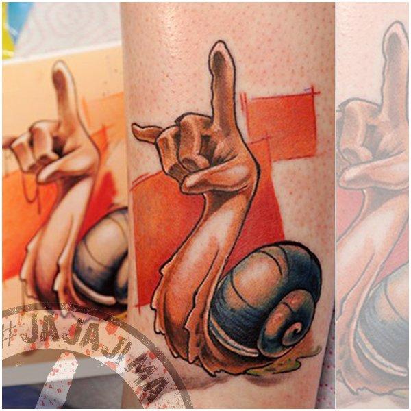 Работы тату-мастера #JajaJima в цветной графике