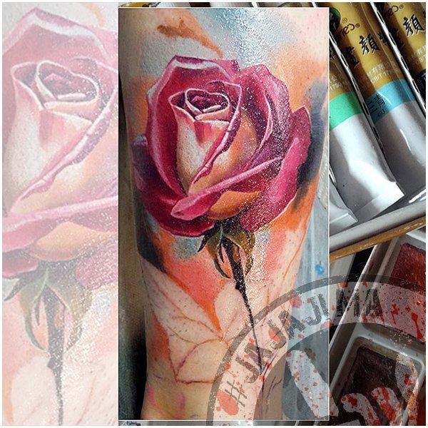 Работы тату-мастера #JajaJima в реализме роза