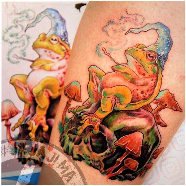 тату волшебная жаба