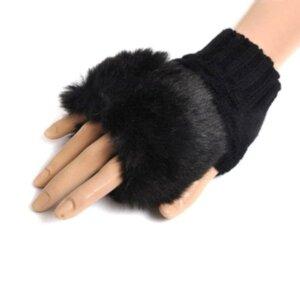 Женские теплые рукавицы Black