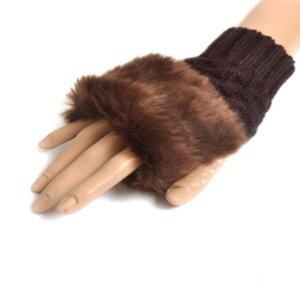 Женские теплые рукавицы Coffee