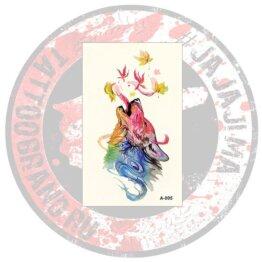 Переводная татуировка цветная Волчица