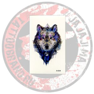 Переводная татуировка Волк A-024