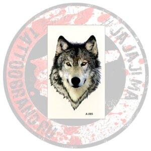 Переводная татуировка Волк реалистичный