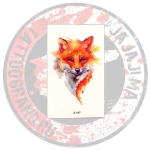 Переводная татуировка Рыжая Лиса