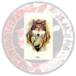 Переводная татуировка Волк