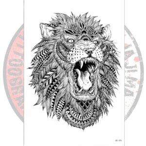 Переводная татуировка со Львом