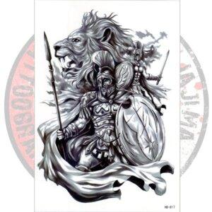 Переводная татуировка Спартанцы