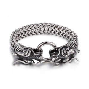 браслет-цепочка с драконами