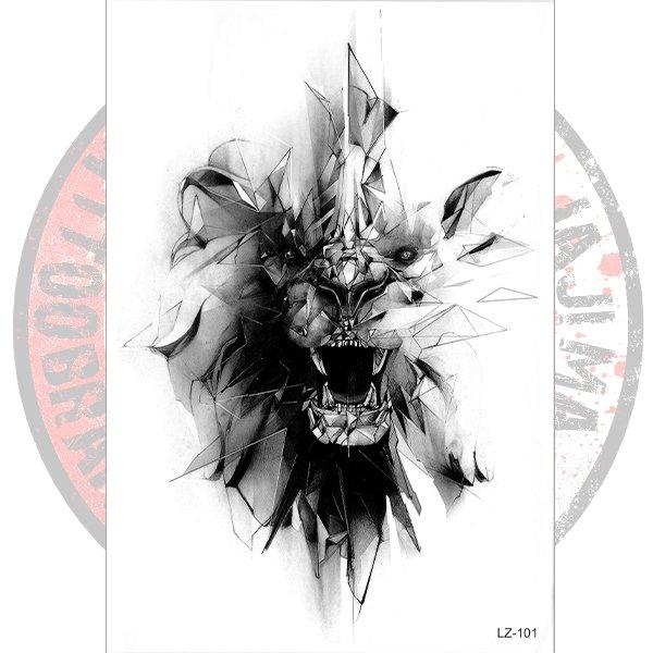 Переводная татуировка Лев