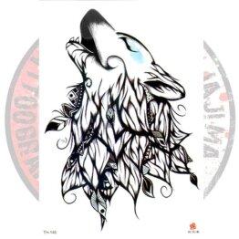 Переводная татуировка Волк этнический