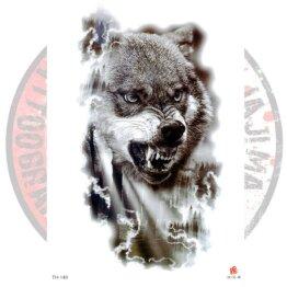 Переводная татуировка Волк в реализме