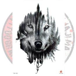 Переводная татуировка лесной Волк