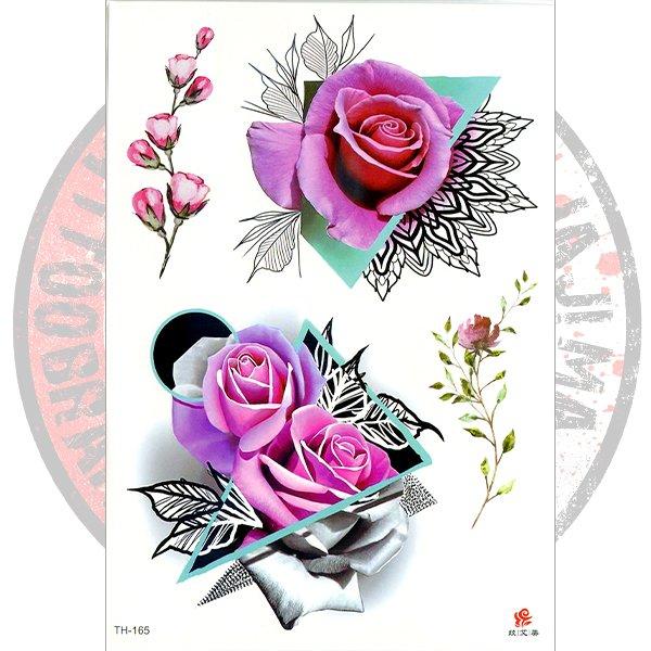 Переводная татуировка Арт цветочный
