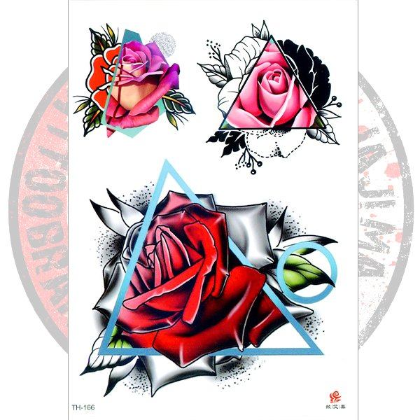 Переводная татуировка Арт с розами