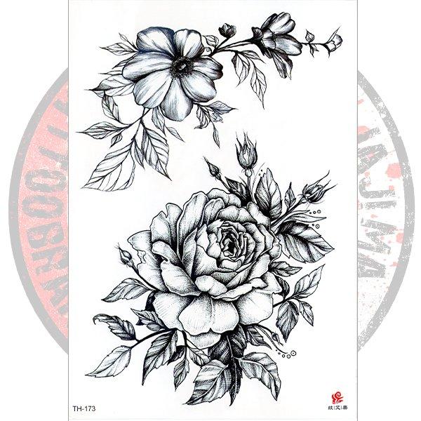 Переводная флеш-татуировка Роза