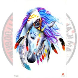 Переводная татуировка Белый конь