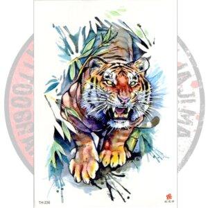 Переводная татуировка Тигр