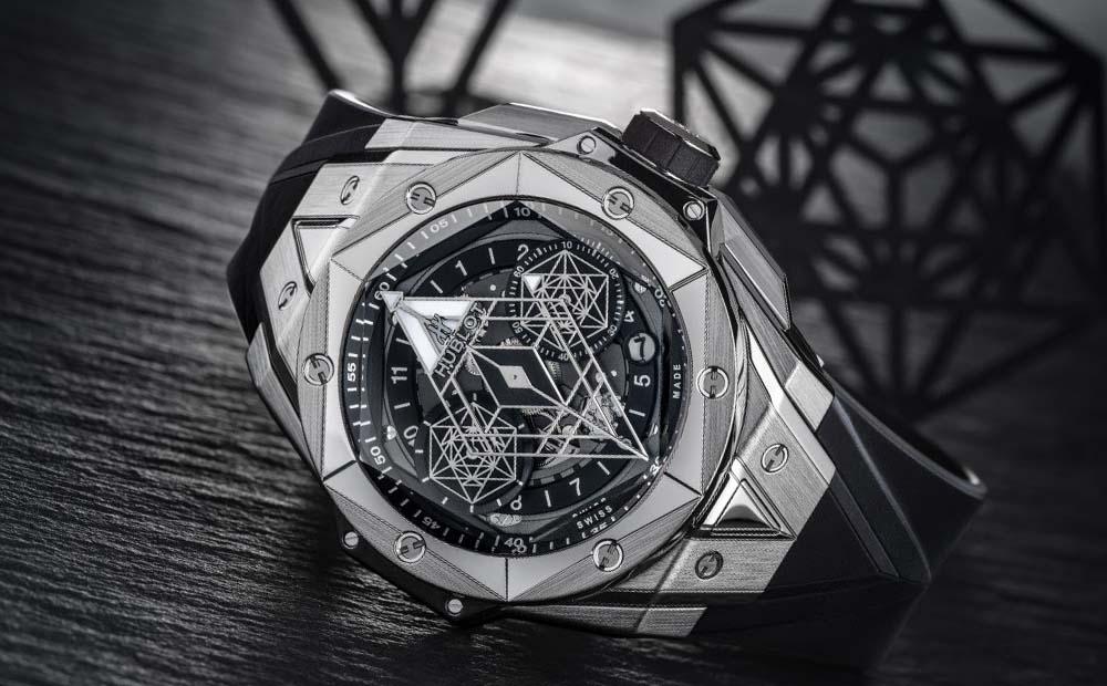часы в тату-геометрии
