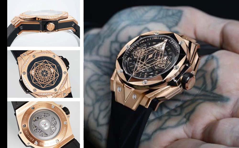 В стиле тату-геометрия Hublot выпустили люксовые часы